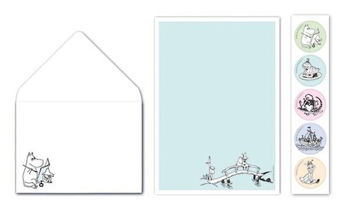 Letter writing set Moomin - On a Bridge