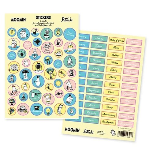 Sticker Pack Moomin - Bujo Stickers in English