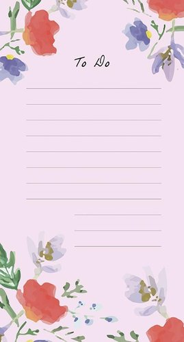 To-Do List Nunuco - Flowers