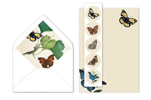 Letter writing set John Nurminen Foundation - Butterflies