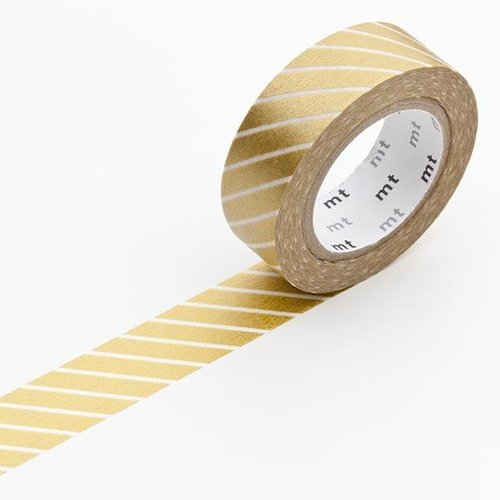 MT masking tape - stripe gold