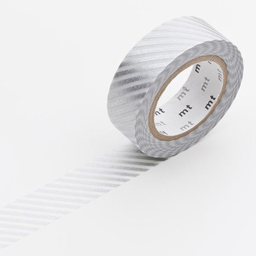 MT masking tape - stripe silver