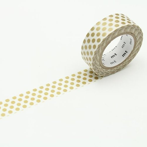 MT masking tape, dot gold 2