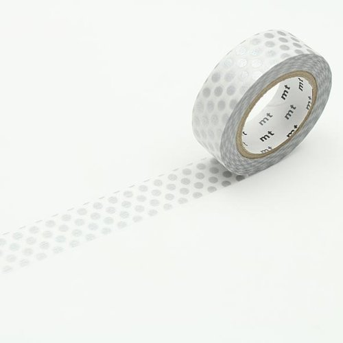 MT masking tape, dot silver