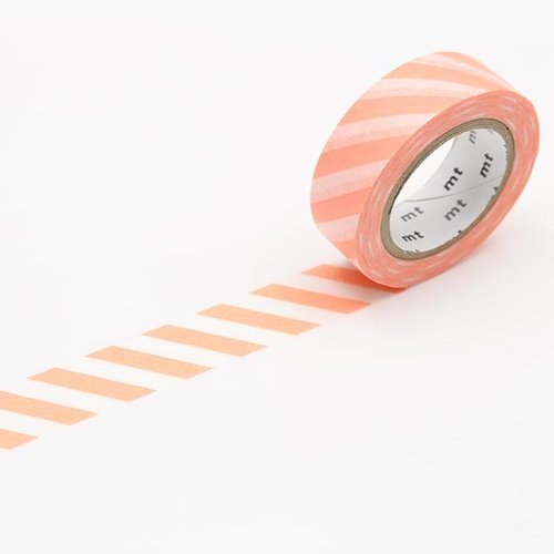 MT masking tape, stripe salmon pink
