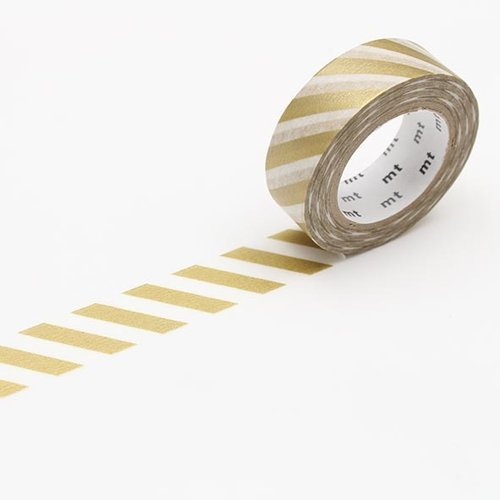 MT masking tape - stripe gold 2