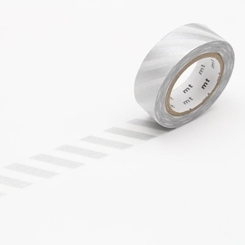 MT masking tape - stripe silver 2