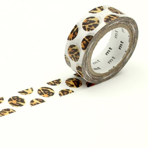 MT masking tape, dot leopard