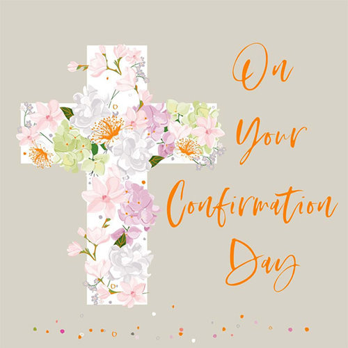 2-osainen neliökortti - On your Confirmation Day