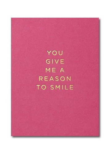 Pikkukortti Lagom - You give me a reason to smile