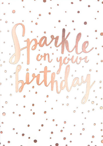 2-osainen kortti Sadler Jones - Sparkle on your birthday