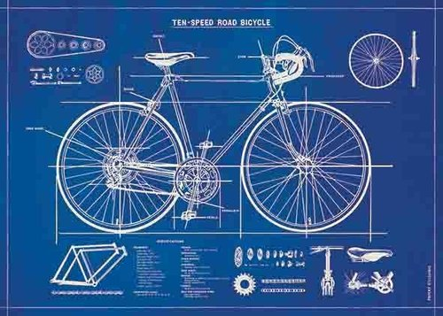 Juliste Cavallini - Bicycle Blueprint