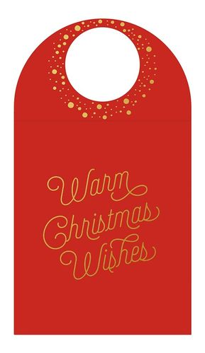 Bottle Card - Warm Christmas Wishes