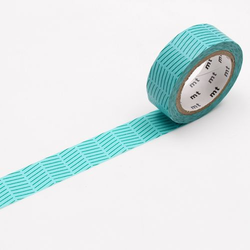 MT masking tape, diagonal green
