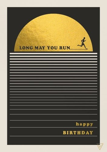 2-osainen kortti - Long may you run, happy birthday