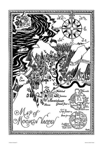 Iso Muumi-juliste - Map of Moominvalley