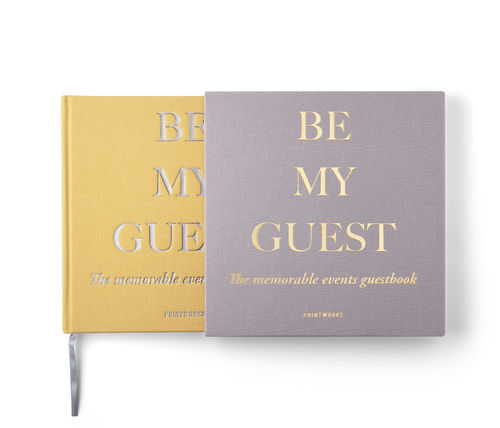 Printworks Guest Book - Be My Guest Beige/Yellow