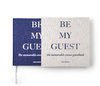 Printworks guest book - Be My Guest, Grey/Navy