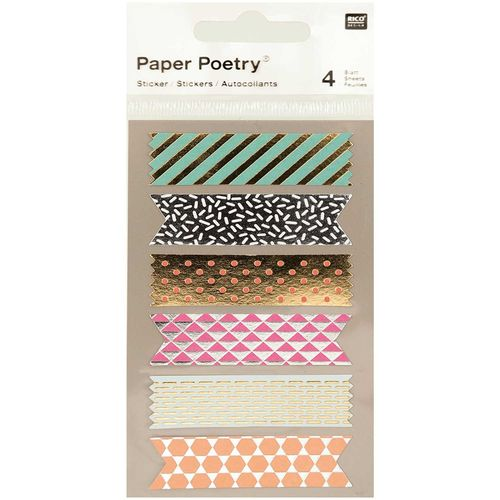Tarrasetti Paper Poetry - Metallic Tapes