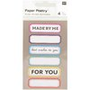 Tarrasetti Paper Poetry - Labels Multicolor