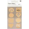 Tarrasetti Paper Poetry - Labels Metallic