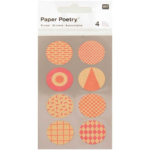 Tarrasetti Paper Poetry - Round Neon