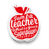XL tarra Studio Inktvis - I am a teacher
