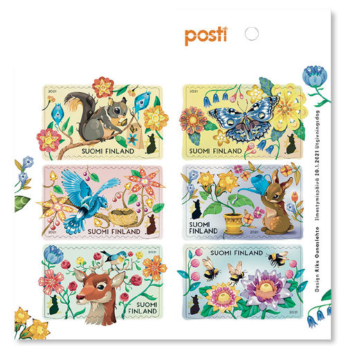 Let´s Take Care, 6 domestic stamps