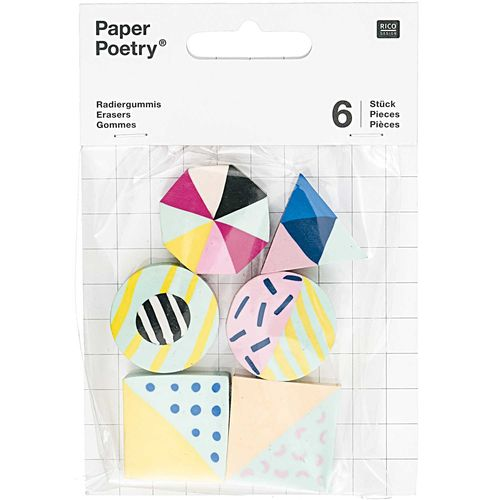 Erasers Paper Poetry - Modern Mix